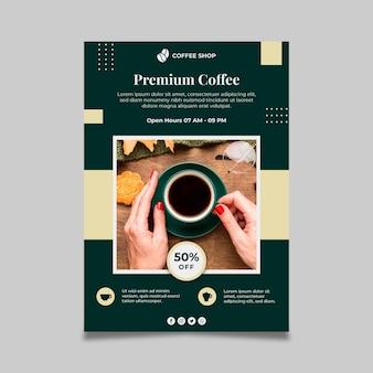 Modelo de pôster de café premium