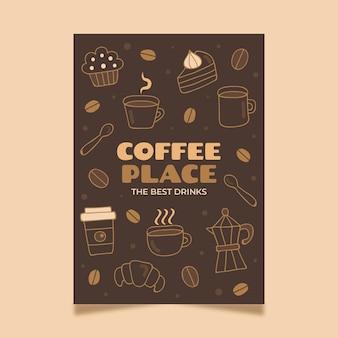 Modelo de pôster de café