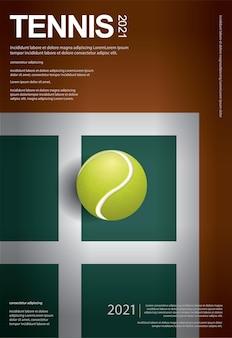 Modelo de pôster de campeonato de tênis