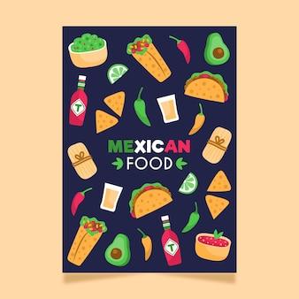 Modelo de pôster de comida mexicana