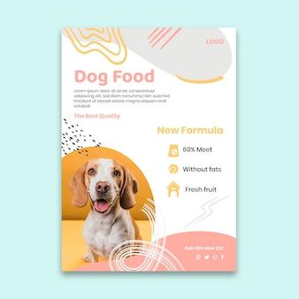 Modelo de pôster de comida para cachorro
