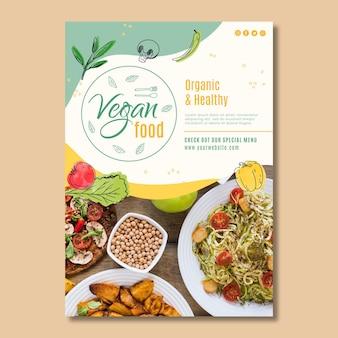 Modelo de pôster de comida vegana