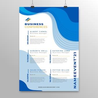 Modelo de pôster de conferência de negócios