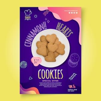 Modelo de pôster de cookies