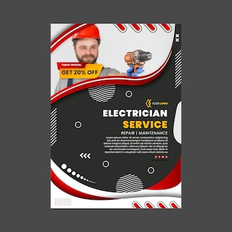 Modelo de pôster de eletricista
