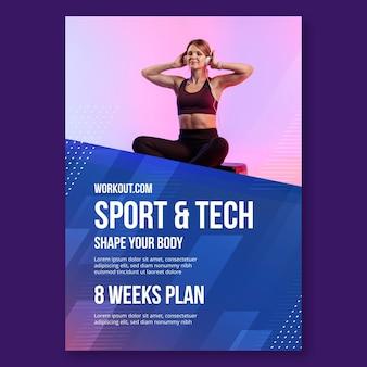 Modelo de pôster de esporte e tecnologia