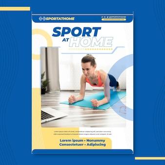 Modelo de pôster de esporte em casa