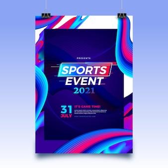 Modelo de pôster de evento esportivo de 2021
