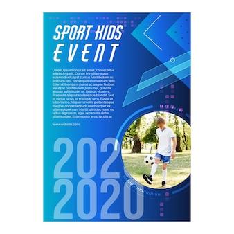Modelo de pôster de eventos esportivos para crianças