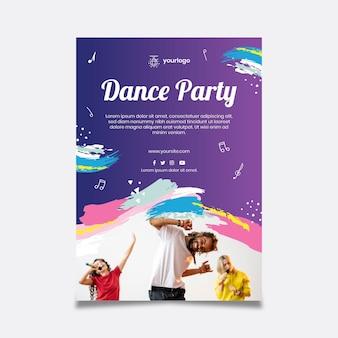 Modelo de pôster de festa dançante