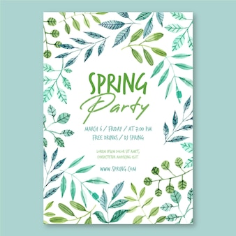 Modelo de pôster de festa de primavera