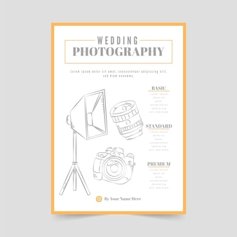 Modelo de pôster de fotografia de casamento