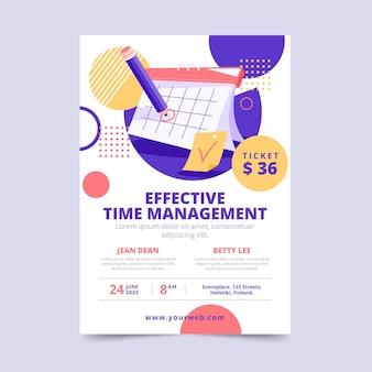 Modelo de pôster de gerenciamento de tempo eficaz