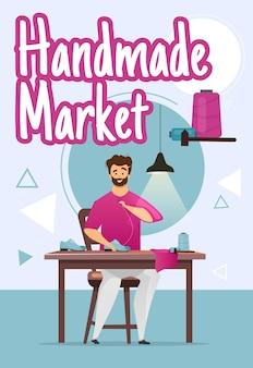 Modelo de pôster de mercado feito à mão