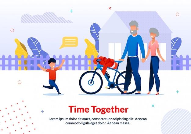 Modelo de poster de motivação para passar tempo com parentes