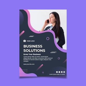 Modelo de pôster de mulher de negócios