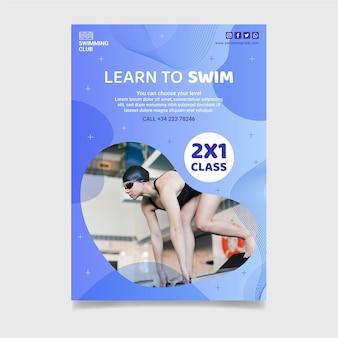 Modelo de pôster de natação