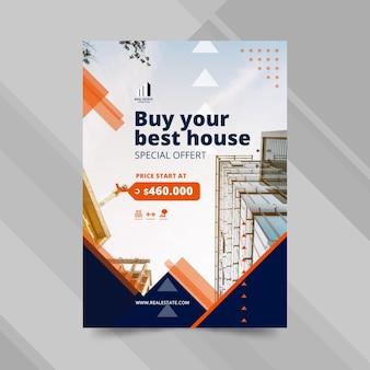 Modelo de pôster de negócios imobiliários