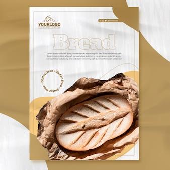 Modelo de pôster de pão fresco