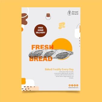 Modelo de pôster de pão Vetor grátis