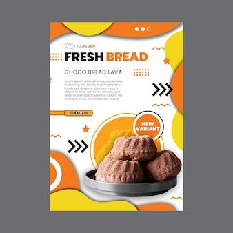 Modelo de pôster de pão