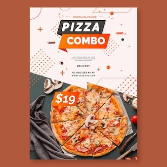 Modelo de pôster de pizza