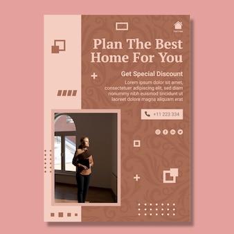Modelo de pôster de planejamento doméstico