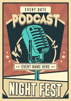 Modelo de pôster de podcast