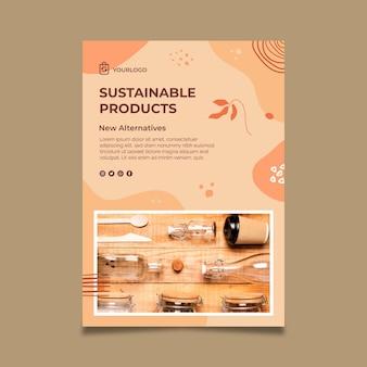 Modelo de pôster de produtos sustainabe