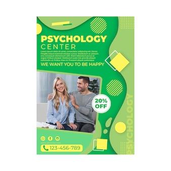 Modelo de pôster de psicologia