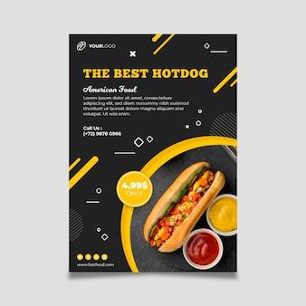 Modelo de pôster de restaurante de comida americana