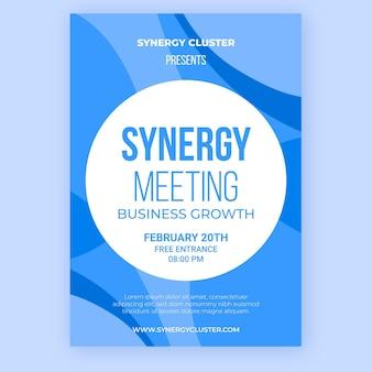 Modelo de pôster de reunião de sinergia