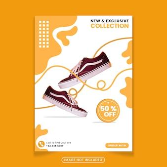 Modelo de pôster de sapatos