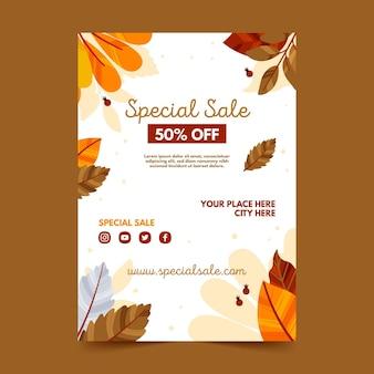 Modelo de pôster de venda de outono