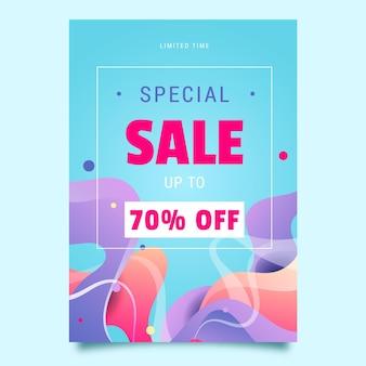 Modelo de pôster de venda especial