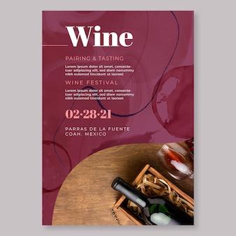 Modelo de pôster de vinho