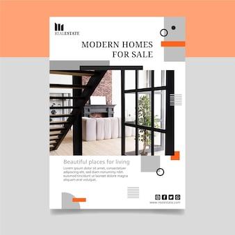 Modelo de pôster imobiliário