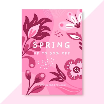 Modelo de pôster monocromático de primavera