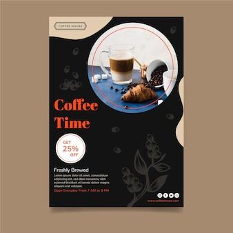 Modelo de pôster para a hora do café