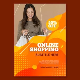 Modelo de pôster para compras online