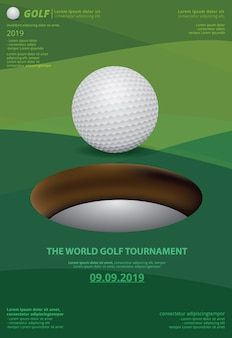 Modelo de pôster para o campeonato de golfe