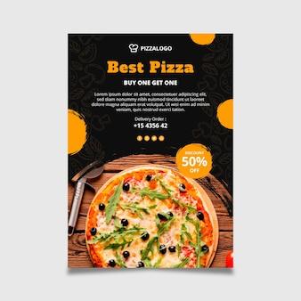 Modelo de pôster para restaurante de comida italiana