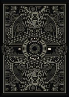 Modelo de poster steampunk