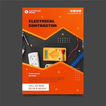 Modelo de pôster vertical de eletricista