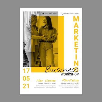 Modelo de pôster vertical de negócios de marketing