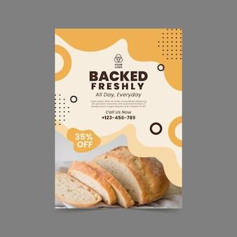 Modelo de pôster vertical de pão