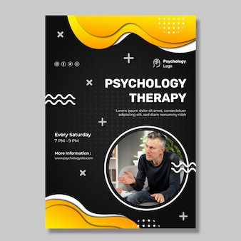 Modelo de pôster vertical de psicologia