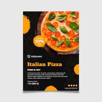 Modelo de pôster vertical para restaurante de comida italiana