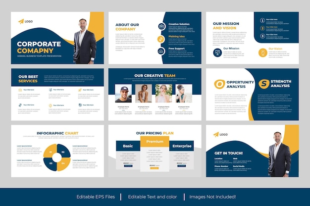 Modelo de powerpoint de negócios corporativos