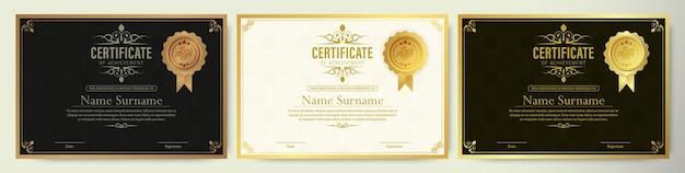Modelo de prêmio de certificado clássico